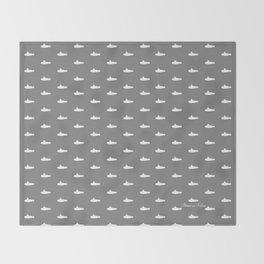 Tiny Subs - Gray Throw Blanket