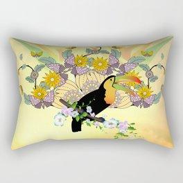 Funny toucan Rectangular Pillow