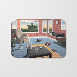 "Hippo Campus - ""Landmark"" Lyrics Bath Mat"