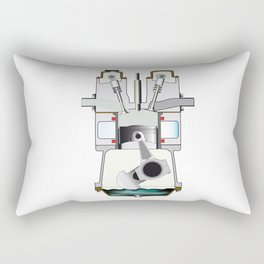 Diesel Induction Stroke Rectangular Pillow