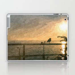 Bird and sunset Laptop & iPad Skin