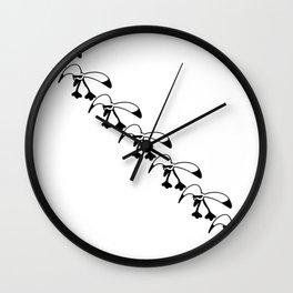 Sea-cool diagonal pattern Wall Clock