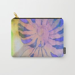 NAUTILUS SEA SHELL BLUE AND PURPLE IMPRESSIONS Carry-All Pouch