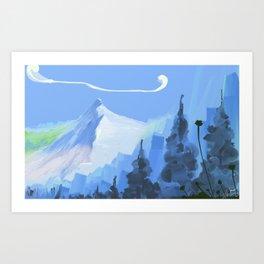 montain Art Print