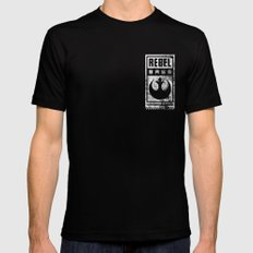 Rebel Base Black MEDIUM Mens Fitted Tee