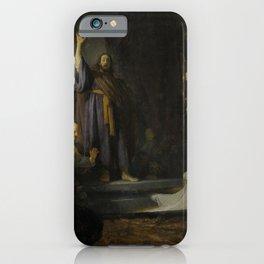 Rembrandt - The Raising of Lazarus (1632) iPhone Case
