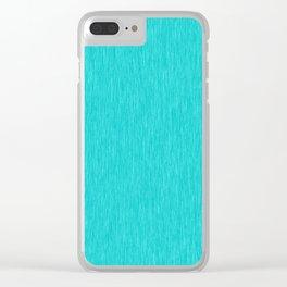 Cyan Fibre Clear iPhone Case