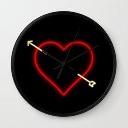 Neon Heart Wall Clock