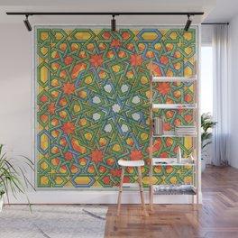 8-Fold Alhambra Pattern Wall Mural