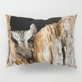 Little screech owl eyes open Pillow Sham