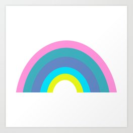 Cute Colorful Geometric Rainbow Art Print
