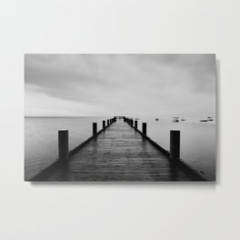 """""""ghost"""" boats on Lake Tahoe after a storm Metal Print"""