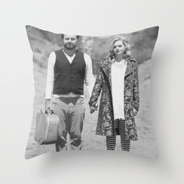 The Runaways BW Throw Pillow