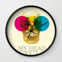 cycle Wall Clocks featuring CYCLE by Nazario Graziano