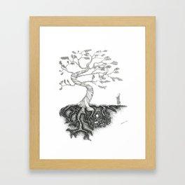 His Sister Buried All his Bones under the Juniper Tree Framed Art Print