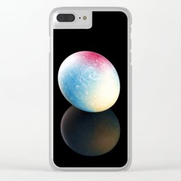 Easter egg on a black background. Clear iPhone Case