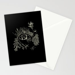 The eye watching you Stationery Cards