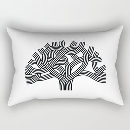Oakland Love Tree (Black) Rectangular Pillow