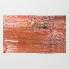 Sienna colored watercolor Rug