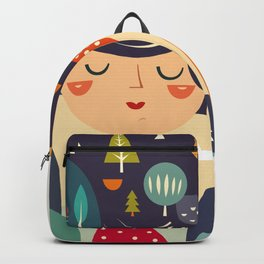 Girl with Trees Backpack