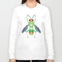 bug Long Sleeve T-shirts featuring Bug by MinaSparklina
