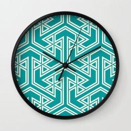 three_triangle_four Wall Clock