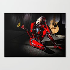 The Butterfly and The Robot Canvas Print
