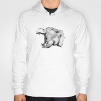 hippo Hoodies featuring Hippo by MattLeckie