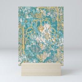 Vintage Traditional Carpet Design Mini Art Print