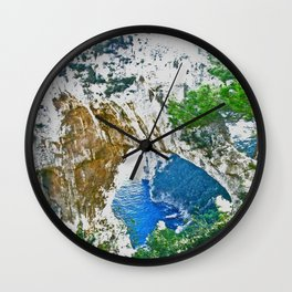 Beautiful Rock Site from Positano Wall Clock