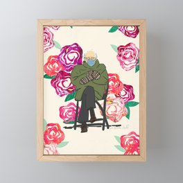Floral Bernie  Framed Mini Art Print