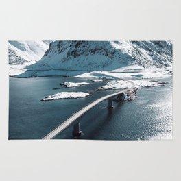lofoten bridge Rug