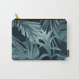 Tropical Leaves Monstera Banana Palm Carry-All Pouch