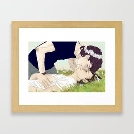 """""""flower crowned"""" Framed Art Print"""