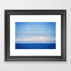 Meet me over the horizon Framed Art Print