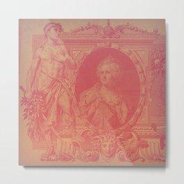 Pink Ruble Metal Print