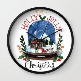 Holly Jolly Christmas Wall Clock