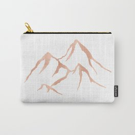 MOUNTAINS Rose Gold on Black Carry-All Pouch