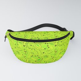 Green neon  , placer beads Fanny Pack