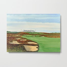 Shinnecock Hills Golf Course With Clubhouse Metal Print