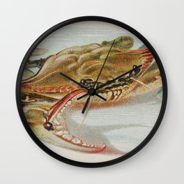 Vintage Illustration of a Crab (1889) Wall Clock