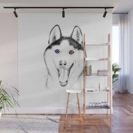 Smiling Husky Wall Mural