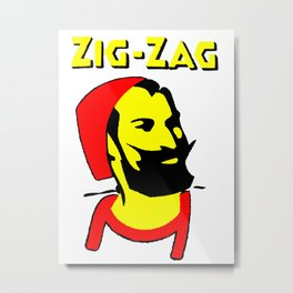 Zig Zag Papers Metal Print