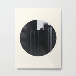 Black and White Buildings Metal Print