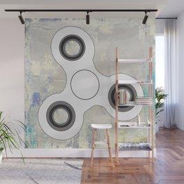 Fidget Spinner In White Wall Mural