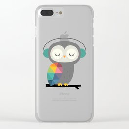 Owl Time Clear iPhone Case