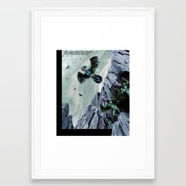 Cave of the Harpies Framed Art Print