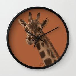 Round Giraffe Wall Clock