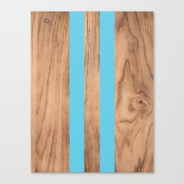 Wood Grain Stripes - Light Blue #807 Canvas Print