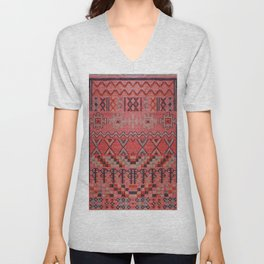 N191 - Oriental Heritage Traditional Bohemian Moroccan Style Design Unisex V-Neck